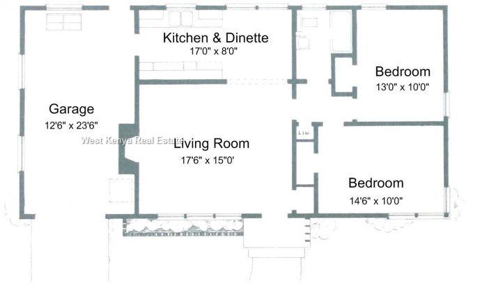 3 bedroom bungalow house plans in Kisumu,Kisumu house plans with photos